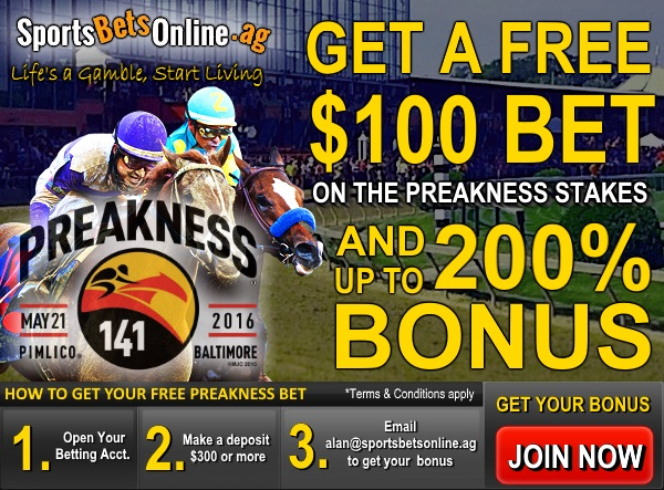 Get a Free $100 Preakness Bet